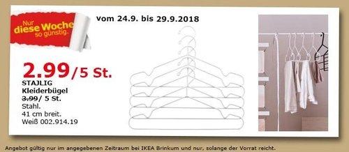 IKEA Brinkum - STAJLIG Kleiderbügel 5 St - jetzt 25% billiger