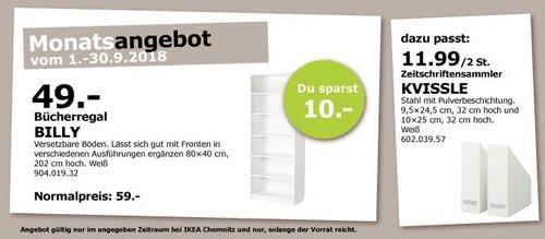 IKEA Chemnitz - BILLY Bücherregal, 80x40 cm, 202 cm hoch - jetzt 17% billiger