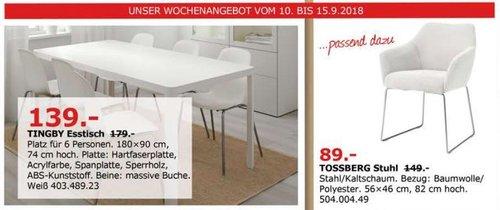 IKEA Düsseldorf - TINGBY Esstisch - jetzt 22% billiger