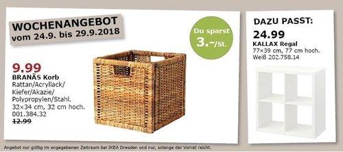 IKEA Dresden - BRANÄS Korb Rattan - jetzt 23% billiger