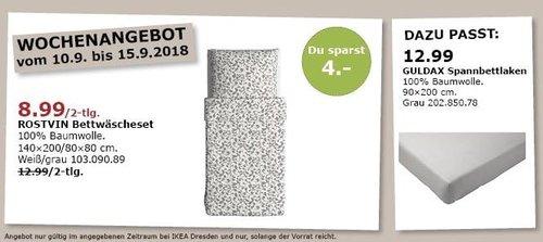 IKEA Dresden - ROSTVIN Bettwäscheset - jetzt 31% billiger