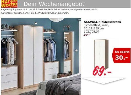 IKEA Erfurt - ASKVOLL Kleiderschrank - jetzt 30% billiger