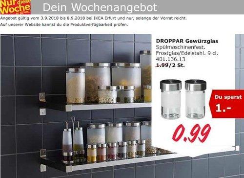 IKEA Erfurt - DROPPAR Gewürzglas, 9cl., 2 St. - jetzt 50% billiger