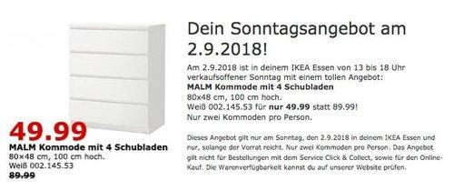 IKEA Essen - MALM Kommode mit 4 Schubladen - jetzt 44% billiger