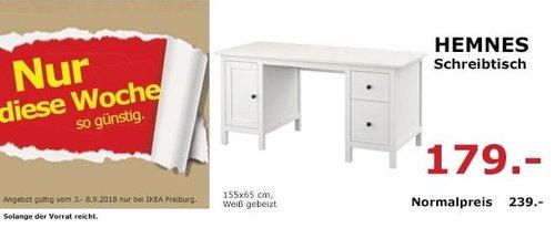 IKEA Freiburg - HEMNES Schreibtisch - jetzt 25% billiger