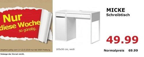 IKEA Freiburg - MICKE Schreibtisch - jetzt 29% billiger