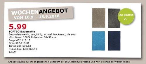 IKEA Hamburg-Altona - TOFTBO Badematte - jetzt 54% billiger