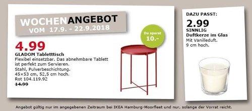 IKEA Hamburg-Moorfleet - GLADOM Tabletttisch - jetzt 67% billiger