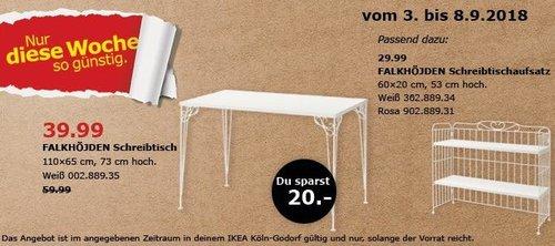 IKEA Köln-Godorf - FALKHÖJDEN Schreibtisch - jetzt 33% billiger
