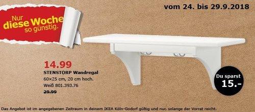 IKEA Köln-Godorf - STENSTORP Wandregal - jetzt 50% billiger