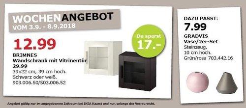 IKEA Kaarst - BRIMNES Wandschrank mit Vitrinentür - jetzt 57% billiger