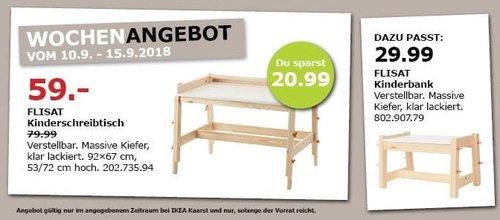 IKEA Kaarst - FLISAT Kinderschreibtisch - jetzt 26% billiger