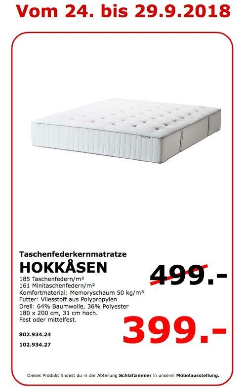IKEA Koblenz - HOKKASEN Taschenfederkernmatratze - jetzt 20% billiger
