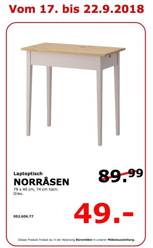 IKEA Koblenz - NORRASEN Laptoptisch - jetzt 46% billiger