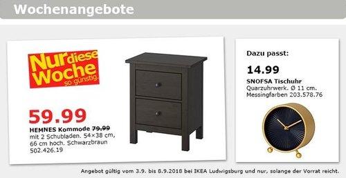 IKEA Ludwigsburg - HEMNES Kommode mit 2 Schubladen - jetzt 25% billiger