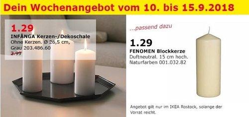 IKEA Rostock - INFANGA Kerzen- /Dekoschale - jetzt 68% billiger