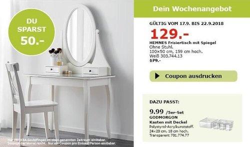 IKEA Sindelfingen - HEMNES Frisiertisch mit Spiegel - jetzt 28% billiger