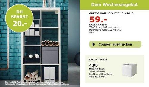 IKEA Sindelfingen - KALLAX Regal, 77x39 cm, 147 cm hoch - jetzt 25% billiger