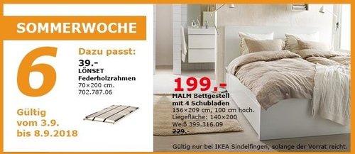 IKEA Sindelfingen - MALM Bettgestell mit 4 Schubladen - jetzt 13% billiger