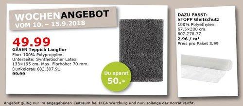 IKEA Würzburg - GASER Teppich Langflor - jetzt 50% billiger