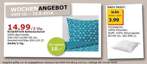 IKEA Würzburg - ROSENPION Bettwäscheset - jetzt 40% billiger