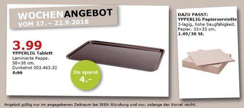 IKEA Würzburg - YPPERLIG Tablett - jetzt 50% billiger
