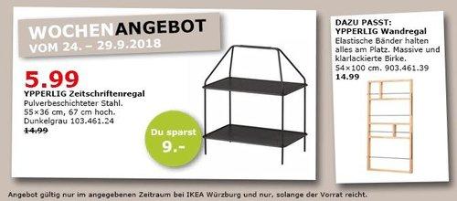 IKEA Würzburg - YPPERLIG Zeitschriftenregal - jetzt 60% billiger