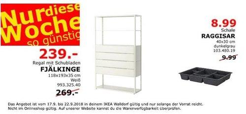 IKEA Walldorf - FJÄLKINGE Regal mit Schubladen - jetzt 11% billiger