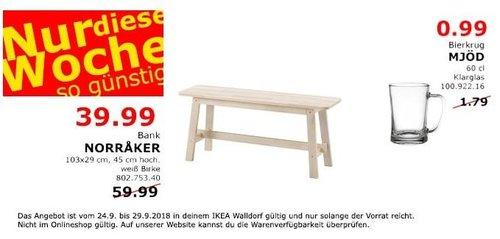 IKEA Walldorf - NORRAKER Bank - jetzt 33% billiger