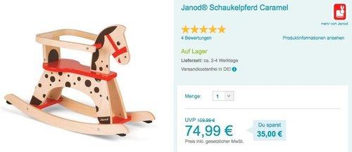 Janod Schaukelpferd Caramel - jetzt 21% billiger