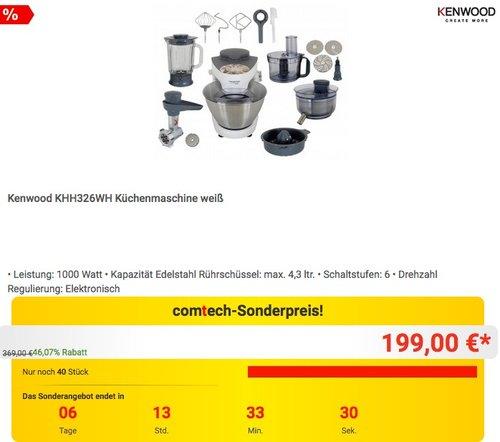 Kenwood KHH326WH Küchenmaschine - jetzt 20% billiger
