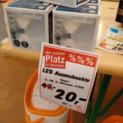 LED Aussenleuchte 2x3W - jetzt 59% billiger