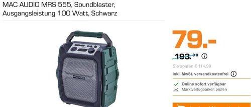 MAC AUDIO MRS 555  Soundblaster mit 100 Watt Ausgangsleistung - jetzt 50% billiger