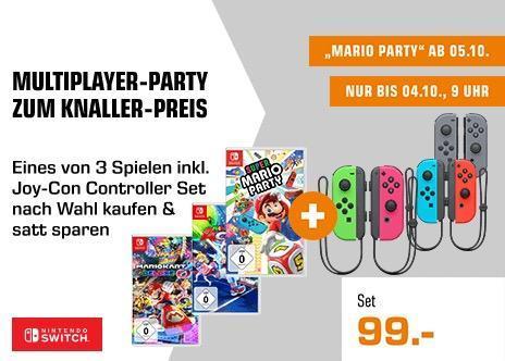 Mario Kart 8 Deluxe - Nintendo Switch + NINTENDO Switch Joy-Con 2er-Set Neon-Grün/Neon-Pink - jetzt 22% billiger