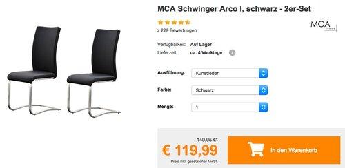 MCA Schwinger Arco 2er-Set - jetzt 14% billiger