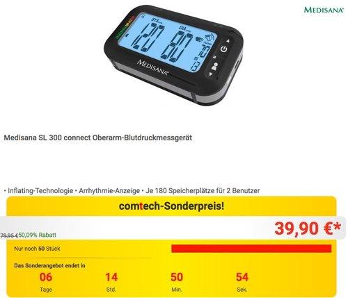 Medisana SL 300 connect Oberarm-Blutdruckmessgerät - jetzt 50% billiger