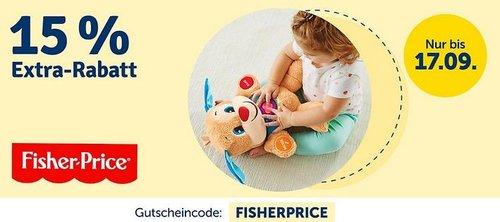 myToys 15 % Rabatt auf Artikel von Fisher-Price: z.B. Dreirad Fishcer Price Charisma in Pink - jetzt 12% billiger