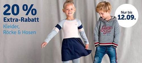 myToys 20 % Rabatt auf Hosen, Kleider & Röcke: z.B.  Steiff Baby Kleid in Weiß mit Spitze, 86-110 - jetzt 19% billiger