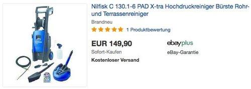 Nilfisk C 130.1-6 PAD X-tra Hochdruckreiniger - jetzt 12% billiger