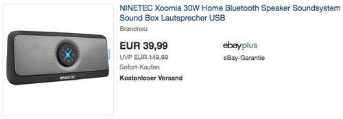 NINETEC Xoomia 30W Bluetooth Lautsprecher - jetzt 50% billiger
