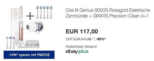 Oral-B Genius 9000S Rosegold Elektrische Zahnbürste + GRATIS Precision Clean 4+1 - jetzt 10% billiger