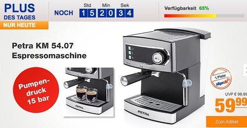 Petra KM 54.07 Espressomaschine 15 Bar - jetzt 36% billiger