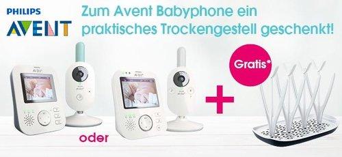 Philips AVENT Video-Babyphone SCD620/26 + Philips Avent Trockengestell SCF149/00 zum Trocknen der Babyfläschchen und Zubehörteile - jetzt 11% billiger