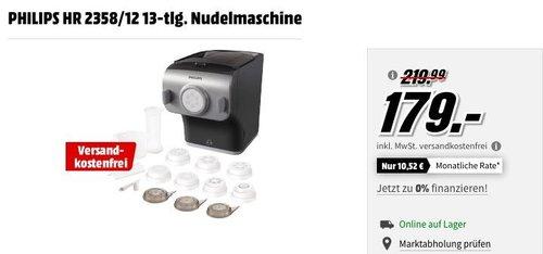 PHILIPS HR 2358/12 Nudelmaschine 13-tlg. - jetzt 17% billiger