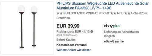 Philips myGarden Blossom LED Solar-Wegeleuchte 2er Set - jetzt 25% billiger
