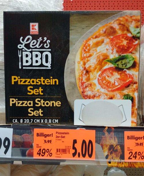 Pizzastein Set - jetzt 50% billiger