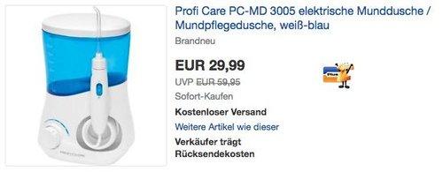 ProfiCare PC-MD 3005 Elektrische Munddusche - jetzt 25% billiger