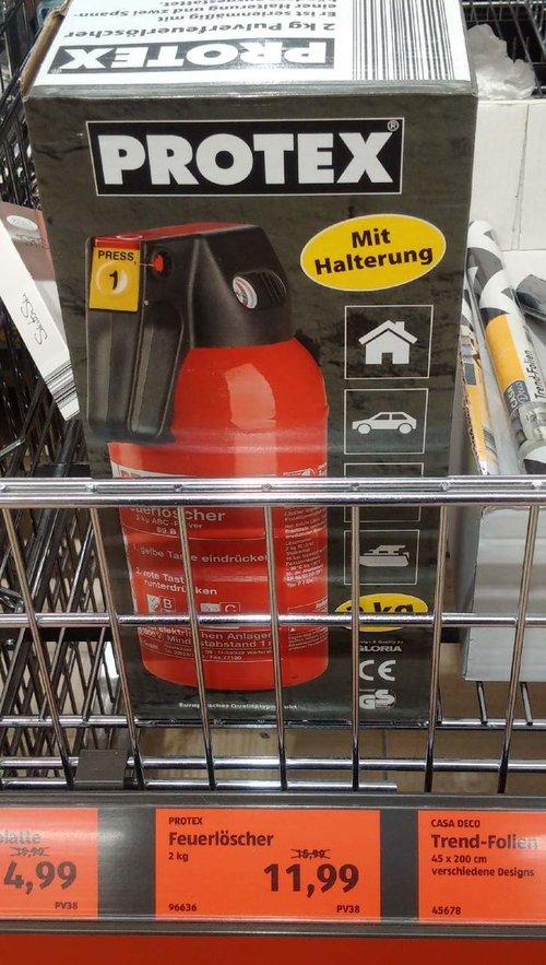Protex Feuerlöscher 2kg - jetzt 25% billiger