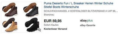Puma Desierto Fun L Sneaker Winterschuhe - jetzt 8% billiger