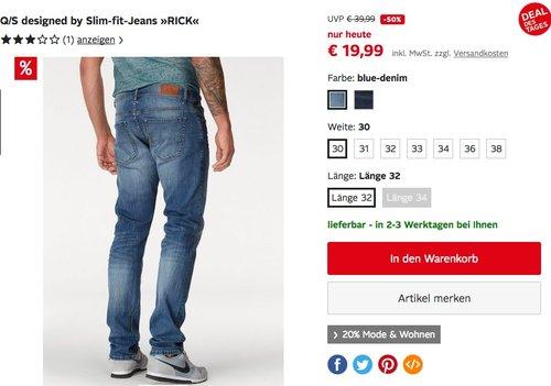 Q/S designed by Slim-fit-Jeans RICK - jetzt 19% billiger